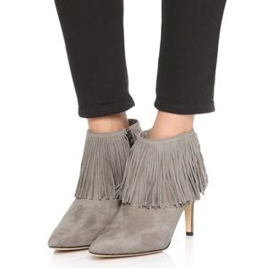 Sam Edelman • Kandice Fringe gray heeled booties